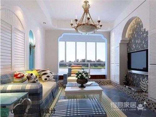 新长江香榭琴台-98平-三室两厅-地中海风格图_1