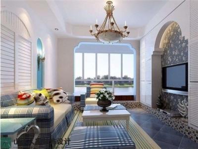 新长江香榭琴台-98平-三室两厅-地中海风格