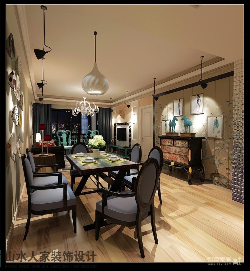 南湖玫瑰湾-三室两厅-混搭风格图_2