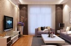 金桥普林斯顿-91平-现代简约-三室两厅图_1