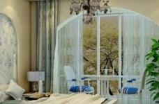 新长江香榭琴台-98平-三室两厅-地中海风格图_3