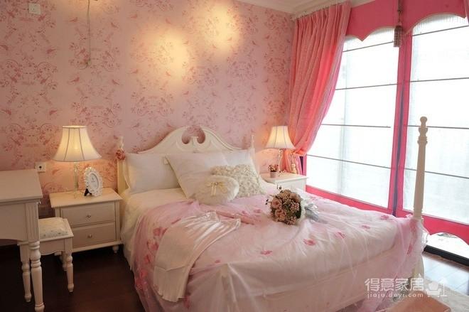 组-粉色公主田园卧室图_2