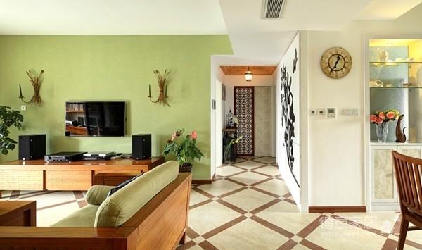 组-东南亚风格客厅 129平米图_13