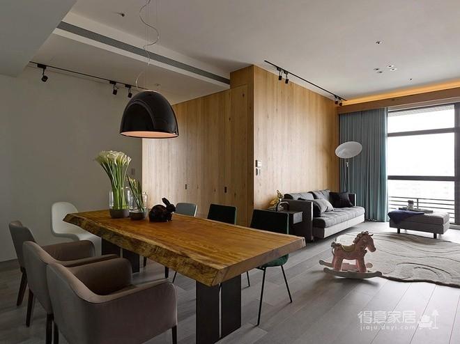 组-自然质朴两居 餐厅图_3