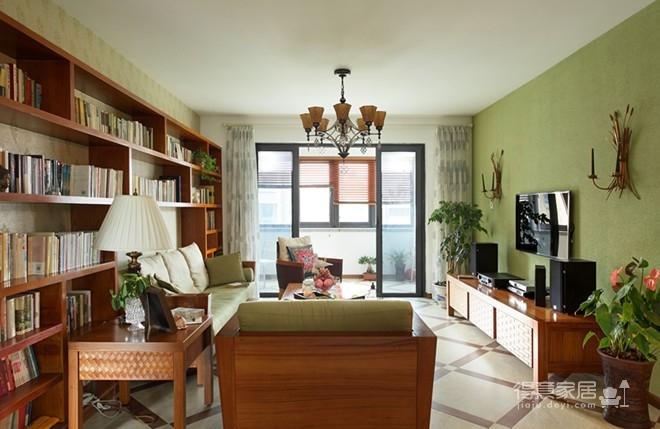 组-东南亚风格客厅 129平米图_14