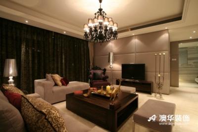 7万装饰锦绣长江120平米现代温馨三居室
