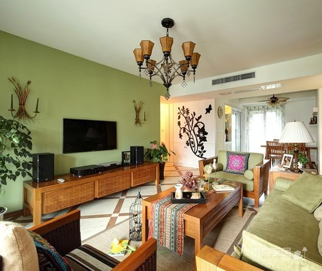 组-东南亚风格客厅 129平米图_7