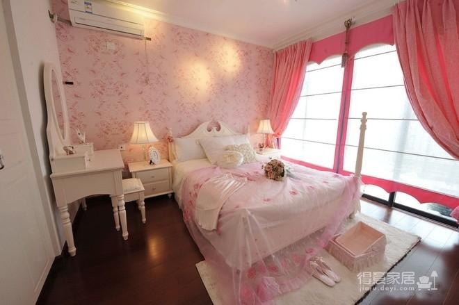 组-粉色公主田园卧室图_1
