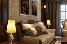 170平古典欧式四室两厅装修设计图图_2