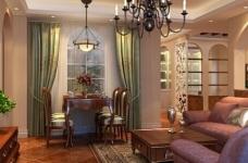 118平米两居室装修 体验美式自在与情调图_3