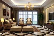 170平古典欧式四室两厅装修设计图图_1