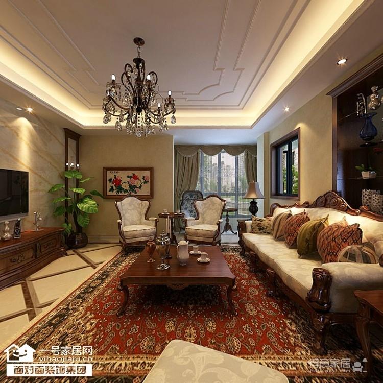 170平美式四室两厅装修设计图图_1