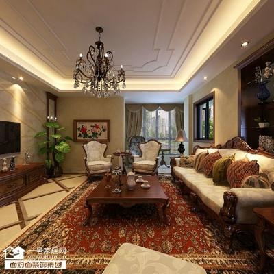 170平美式四室两厅装修设计图