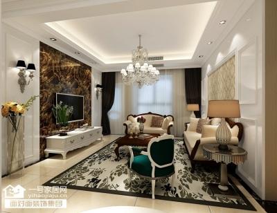 鸿发世纪城-133平-现代简约-三室两厅