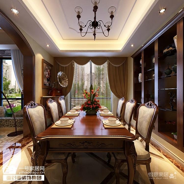 170平美式四室两厅装修设计图图_3