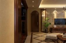 170平美式四室两厅装修设计图图_2