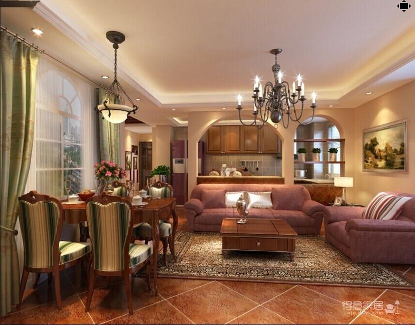 118平米两居室装修 体验美式自在与情调图_2