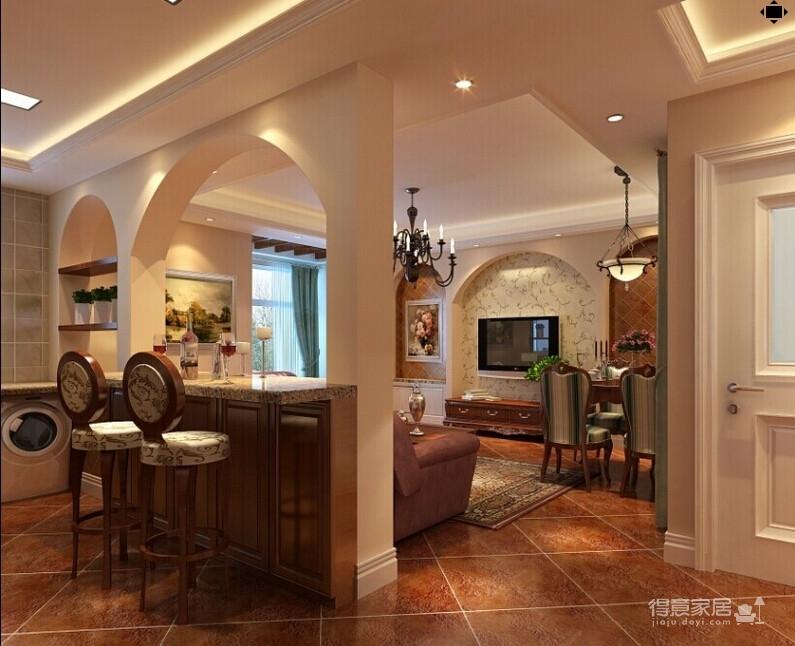 118平米两居室装修 体验美式自在与情调图_1
