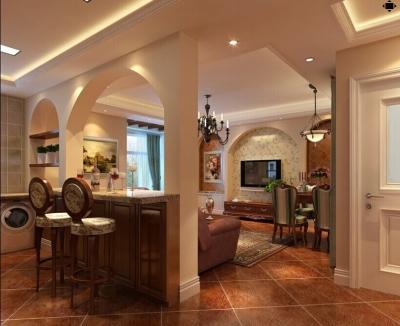 118平米两居室装修|体验美式自在与情调