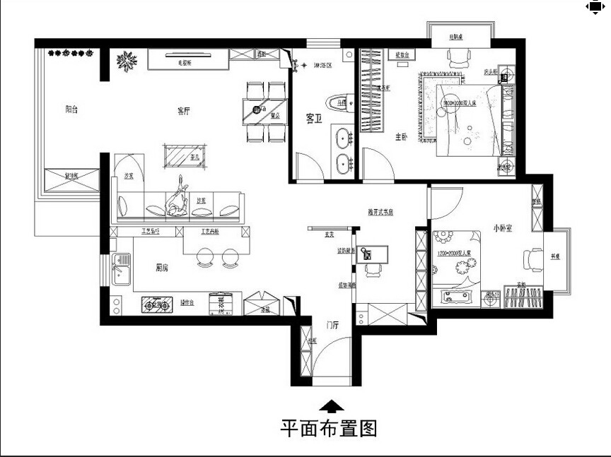 118平米两居室装修 体验美式自在与情调图_8