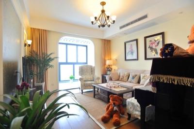 组-鸟语花香的美式家-客厅