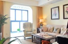 组-鸟语花香的美式家-客厅图_1