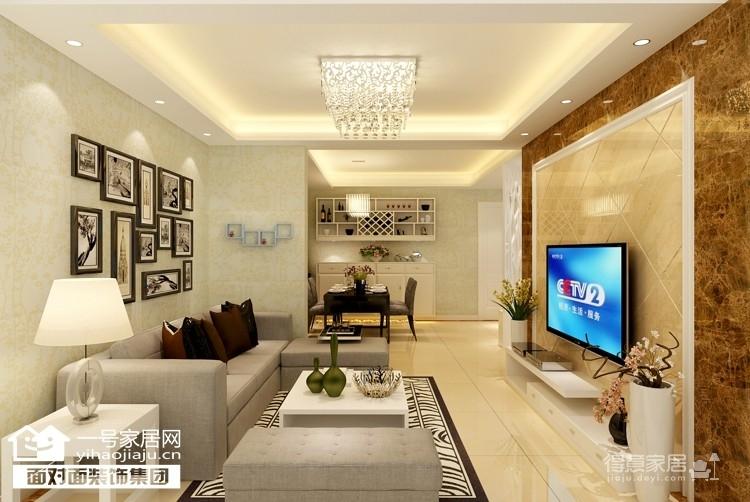 清江泓景-78平-现代简约-两室两厅图_1