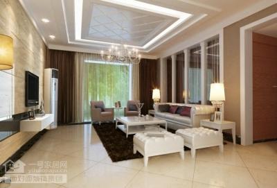 现代简约的126平三室两厅装修设计图