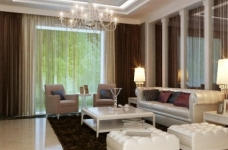 现代简约的126平三室两厅装修设计图图_1