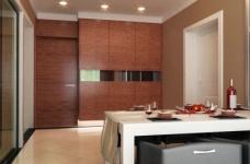 现代简约的126平三室两厅装修设计图图_2