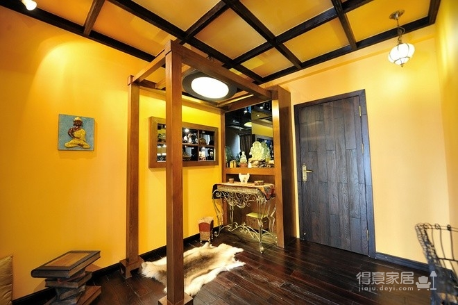 组-东南亚风格多彩别墅-客厅图_10