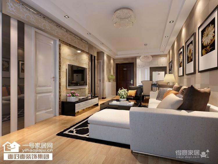 香榭琴台墨园-66平-现代简约-两居室图_1