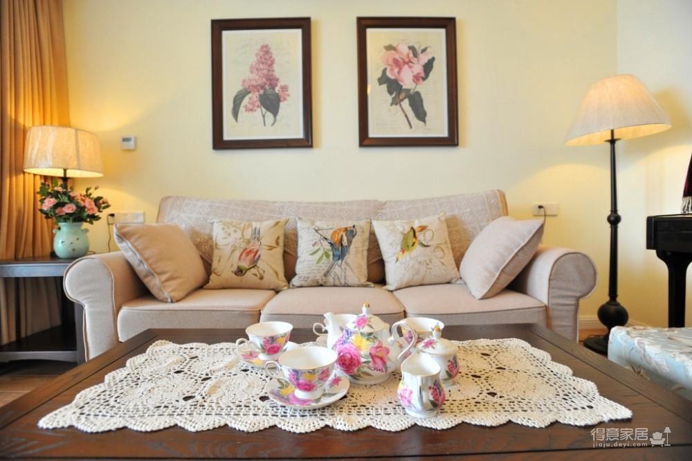 组-鸟语花香的美式家-客厅图_4