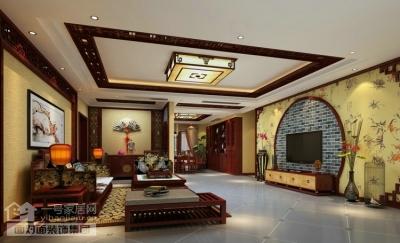 220平的现代中式四室两厅装修图