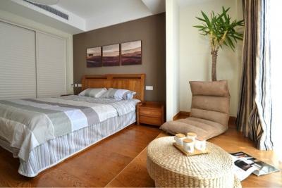 组-卧室里的收纳地台+清新墙贴
