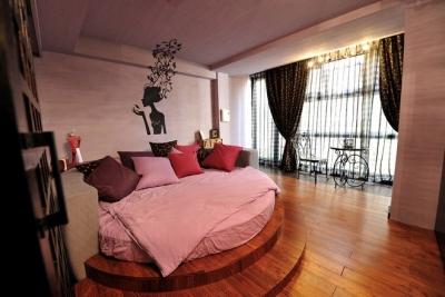 组-东南亚风格多彩别墅-卧室