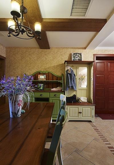 组-130平三室两厅田园餐厅