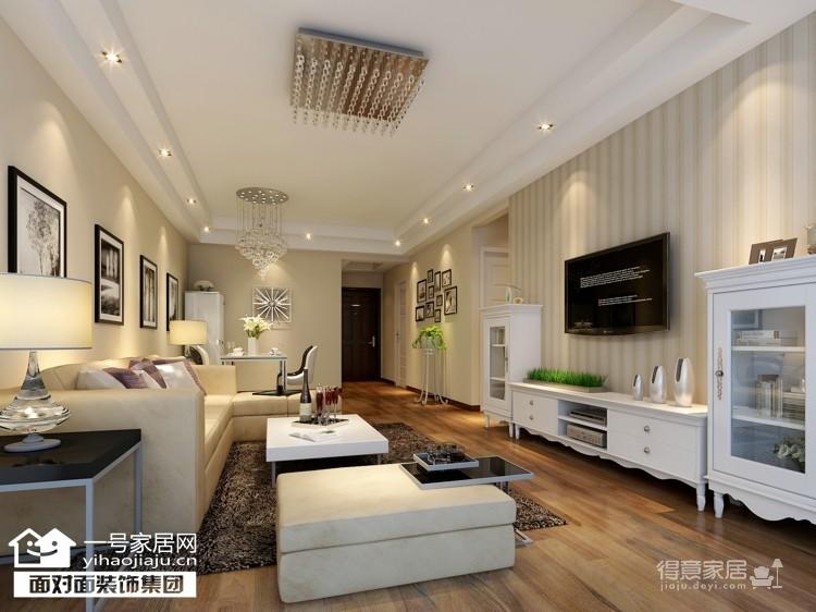 福晟滨江国际-88平-现代简约-两室两厅图_1