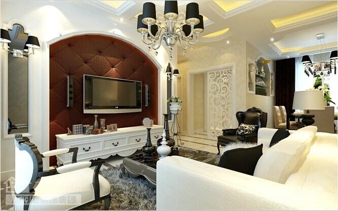 90平的现代简欧两室两厅装修图图_1