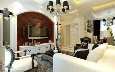 90平的现代简欧两室两厅装修图