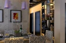 现代简约130平四居室装修设计图图_2