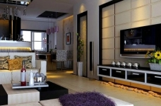 现代简约130平四居室装修设计图图_1