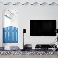 【2014届家装日记】昨日地中海-----厨房竣工,墙纸贴完,背景墙地中海壁画