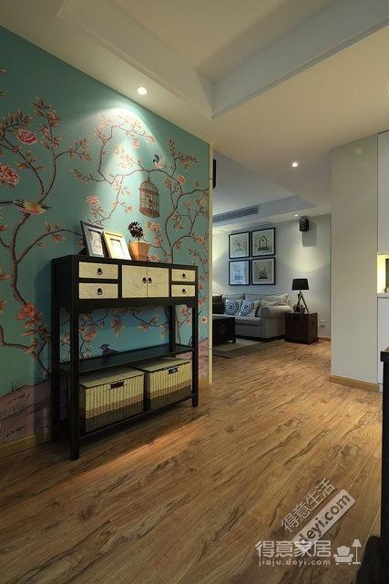 组-80平两室一厅美式小清新图_3
