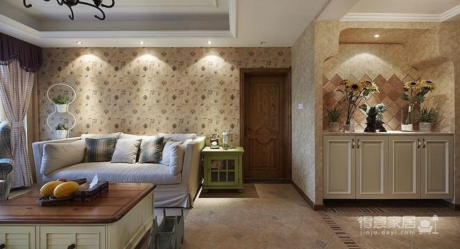 130平三室两厅装修 地中海田园混搭让人砰然心动图_3