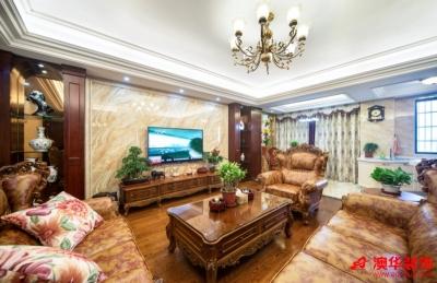 6.2万装修复兴大厦118平米混搭风格三居室