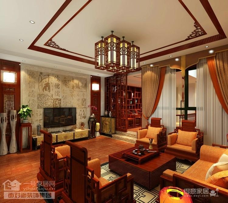 现代中式的别墅装修设计图图_1