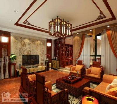 现代中式的别墅装修设计图