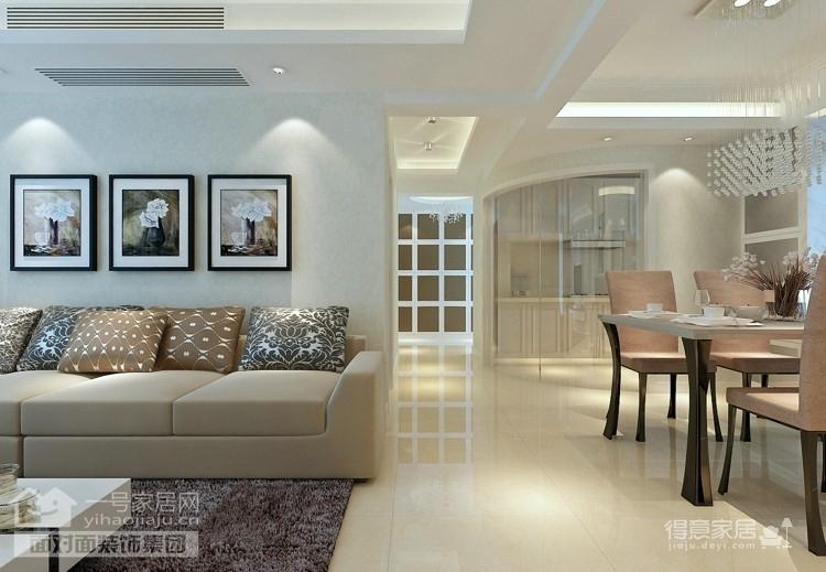 128平现代简约三居室装修图图_4