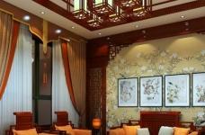 现代中式的别墅装修设计图图_4